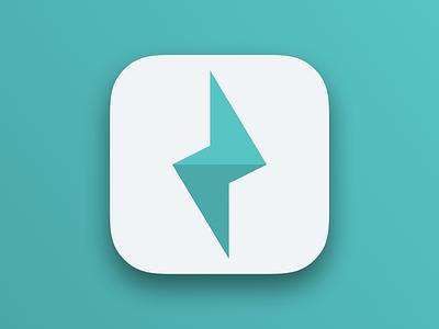 Lightning Icon ipad clean app illustrator ux lightning bolt lightning flat icon ui iphone sketch