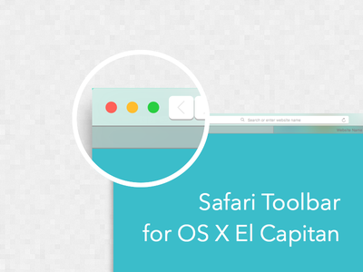Safari Toolbar For OS X El Capitan Sketch Template os x apple mockup ui template free browser safari web sketch