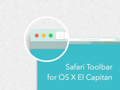 Safari Toolbar For OS X El Capitan Sketch Template