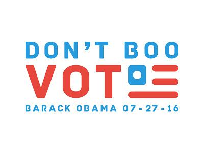 Don't Boo. Vote. sketch affinity photo affinity designer illustrator illustration barack obama type vote typography election president donald trump hillary clinton