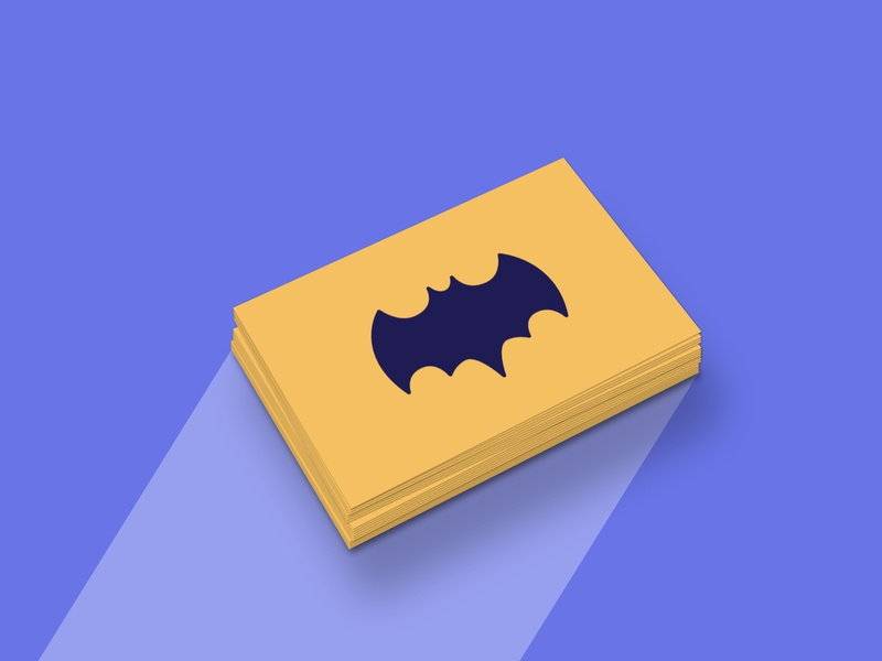 Bat-Signal Business Card signal bat batman card business mockup illustration affinitydesigner affinity