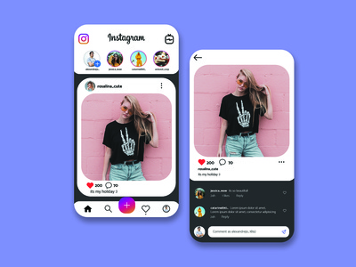 Redesign Unofficial Instagram