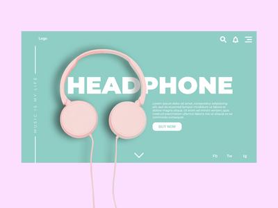 Headphone Website UI
