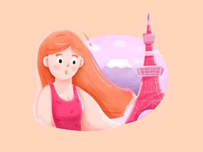 Woman on the Tokyo Tower