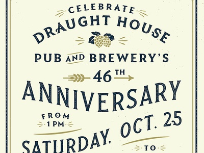 Draught House Anniversary Poster