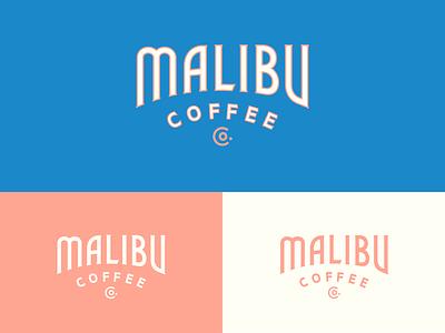Malibu Coffee logotype custom type coffee