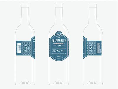 Salamander Vodka Label custom type label packaging vodka