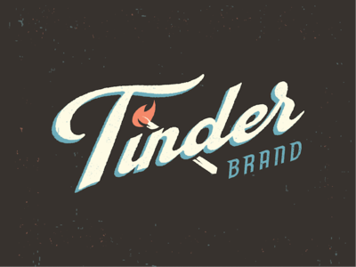 Tinder Matches threadless texture matchbook match retro lettering script