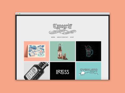 Portofolio Update typogriff branding website portfolio