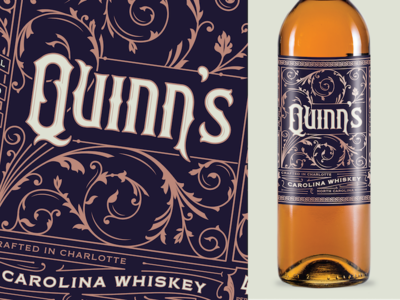 Quinn's irish lettering filigree whiskey