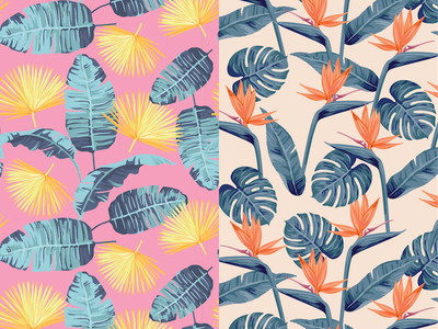 Tropical Patterns leaves tropical palms