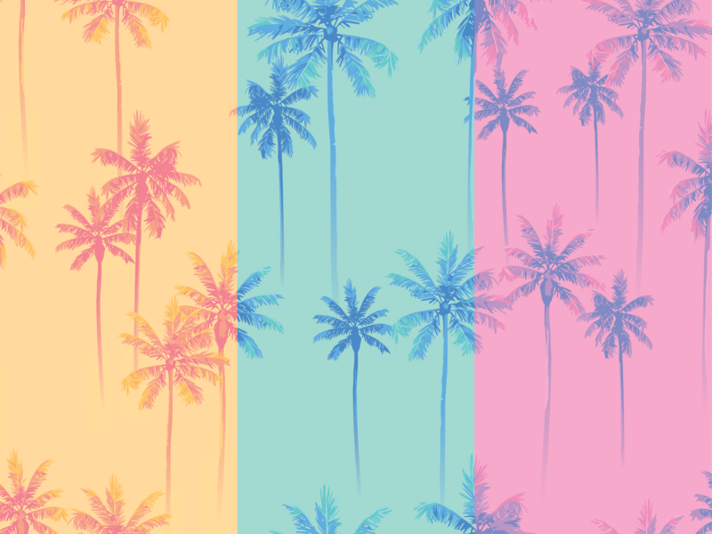 Palms Pattern daytime sunset sunrise illustration tree palm pattern