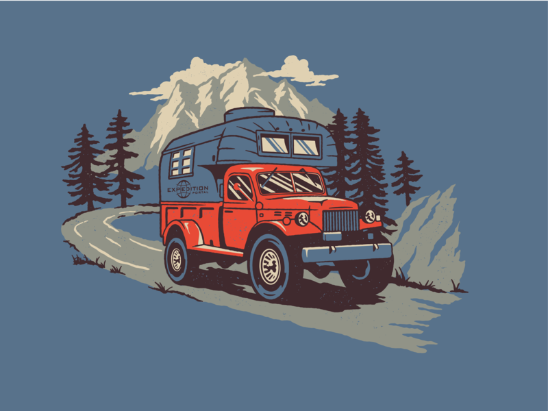 Expedition Portal Shirt shirt truck outdoors mountains power wagon