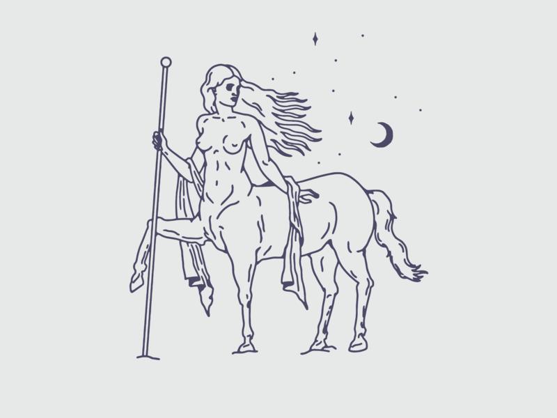Centaurus constellations horse moon stars astronomy constellation centaur woman