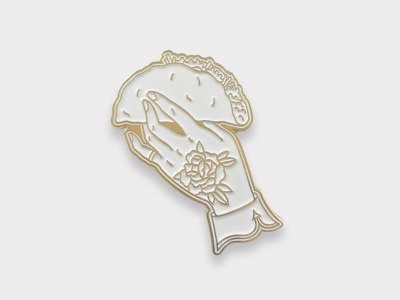 Taco Pin in white pin enamel taco