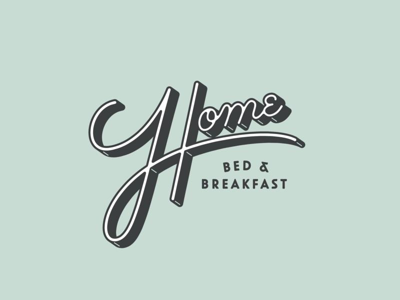 Home B&B home bb script type logo lettering