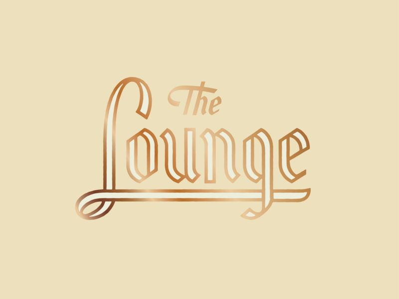 The Lounge metallic blackletter bar lounge