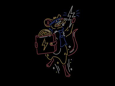 Bitcoin Pizza vending machine lightning wallet surfing bitcoin banner cheese pizza rat rat pizza neon