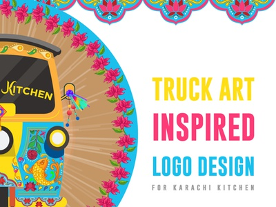 Truck Art Inspired Logo vector illustration digital art graphicdesign branding logo design truck art