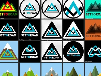 Set to Roam Logo Design Variations for Clothing and Products