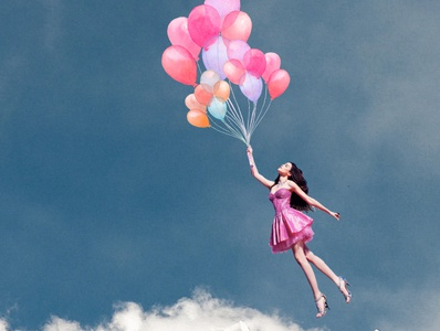 Balloon With Girl
