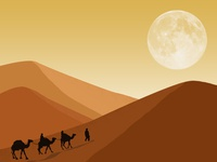 Desert With Camel (Landscape Design)