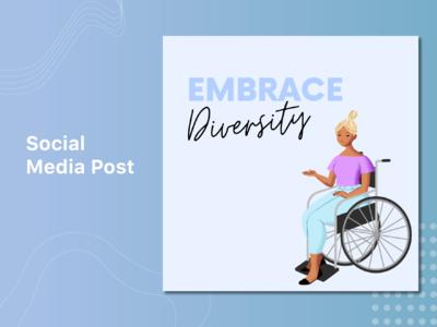 Diversity Socia Media Post wheelchair diversity social instagram post social media post social media design social media socialmedia web ui typography illustration design