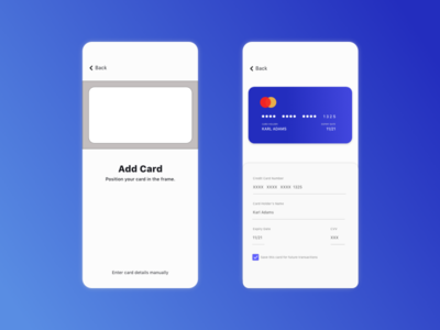 Daily UI #2 - Credit Card Checkout mobile app design mobile app mobile ui credit card checkout ui credit card creditcard daily challenge 100 application ui app adobe xd design