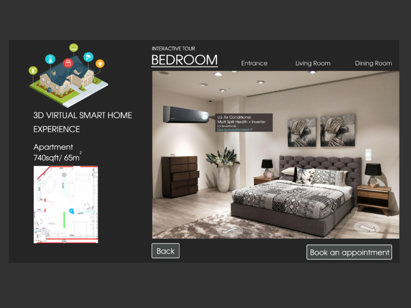 Smart Home Experience website design virtual experience smart home website virtual web ui illustration design