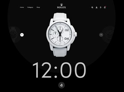 Rolex watch webslider buy online shop online shopping watches clock watch website creative design clean and modern ui design