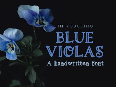 Blue Violas OTF font otf font typography