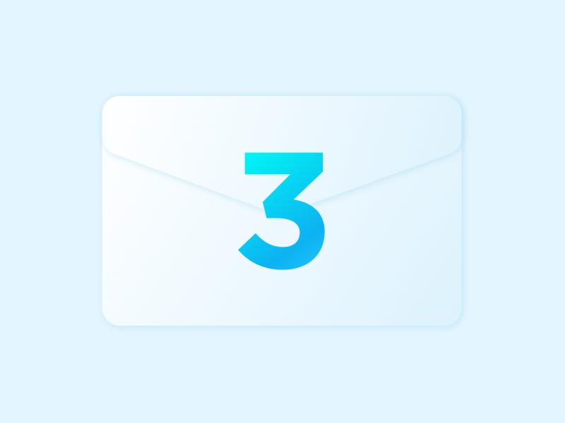 Three Dribbble Invites envelope 3 invite dribbble