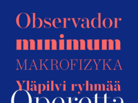 Operetta Font Family exemples 2