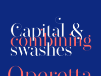 Operetta font swashes
