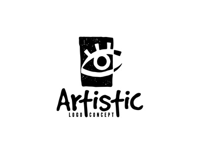 artistic logo concept photography gallery logo design logo portfolio unconventional awesome cool optical vision eye unusual sculptor painter creative visual arts visual artistic art