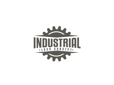industrial logo concept gear logo design logo branding awesome cool steampunk metal iron vintage retro factory industrial