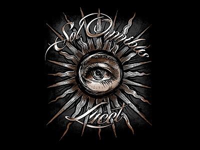 sol omnibus lucet metal gothic consciousness divine spiritual universe eye awareness alchemy mystical t-shirt design t-shirt sunshine sun