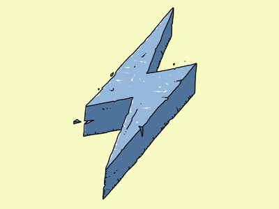 stone lightning bolt? t-shirt lightning bolt awesome cool tshirt illustration drawing