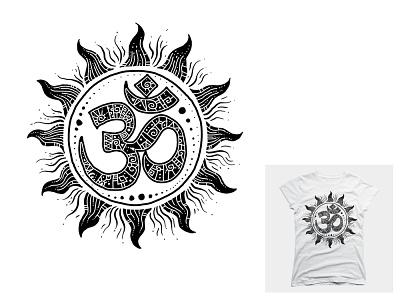 om t-shirt design universe divine enlightenment ascension third eye consciousness light sun new age yoga meditation om spiritual t-shirt tshirt