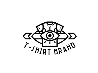 tshirt brand logo concept logo for sale for sale modern urban awesome cool eye logo design logodesign logo brand tshirt