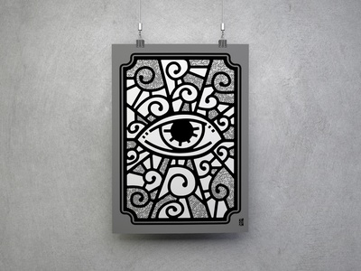 the eye of god consciousness universe awesome cool illustration faith stained glass divine god all seeing eye eye spiritual print