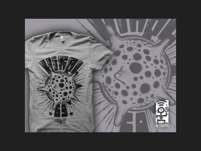 """Viral"" t-shirt illustration tshirt print clothes apparel fashion hand drawn urban awesome cool tshirt design virus viral illustration"