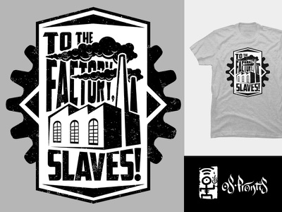 Factory Slaves pin button pin chimney awesome cool steampunk activist political social slavery industry factory gear industrial vintage retro