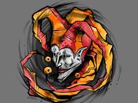 Jester t-shirt illustration