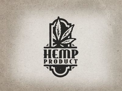 hemp logo concept herb organic natural plant leaf graphic design logo design logo awesome cool vintage retro cbd thc marijuana weed hemp