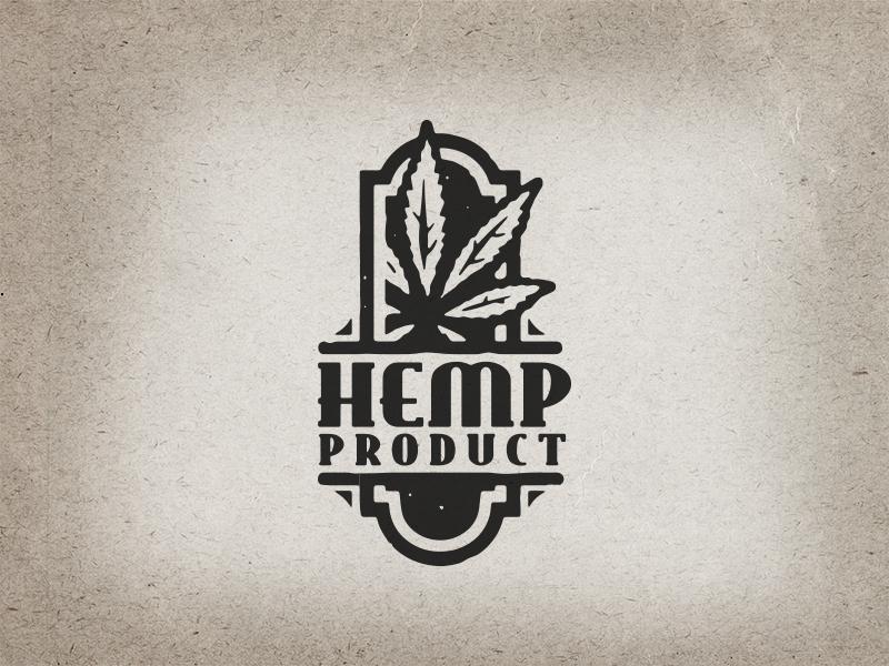 hemp logo concept