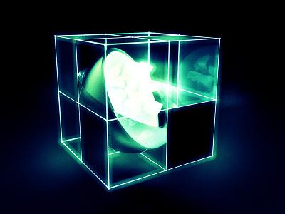 Deathstaur sphere glow photoshop octane geometry green abstract cinema 4d