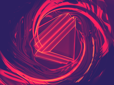 Mid Pyra abstract photoshop cycles4d xparticles cinema 4d geometry