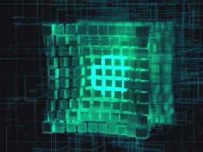 Bits fui techy abstract cinema 4d lines network xparticles cubes squares