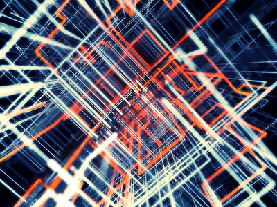 A Grid orange network grid abstract cinema4d